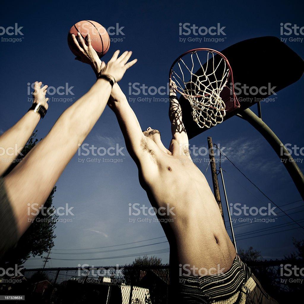 Action Street Basketball royalty-free stock photo