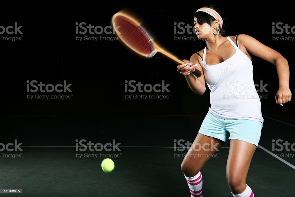 Action Tennis Playing Portrait royalty-free stock photo