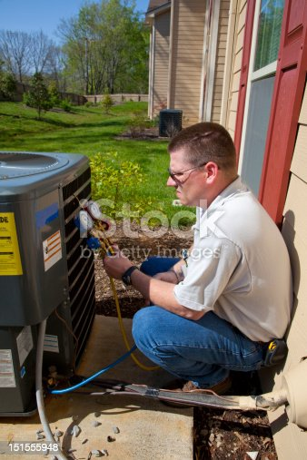 istock Active A/C Repair Tech 151555948