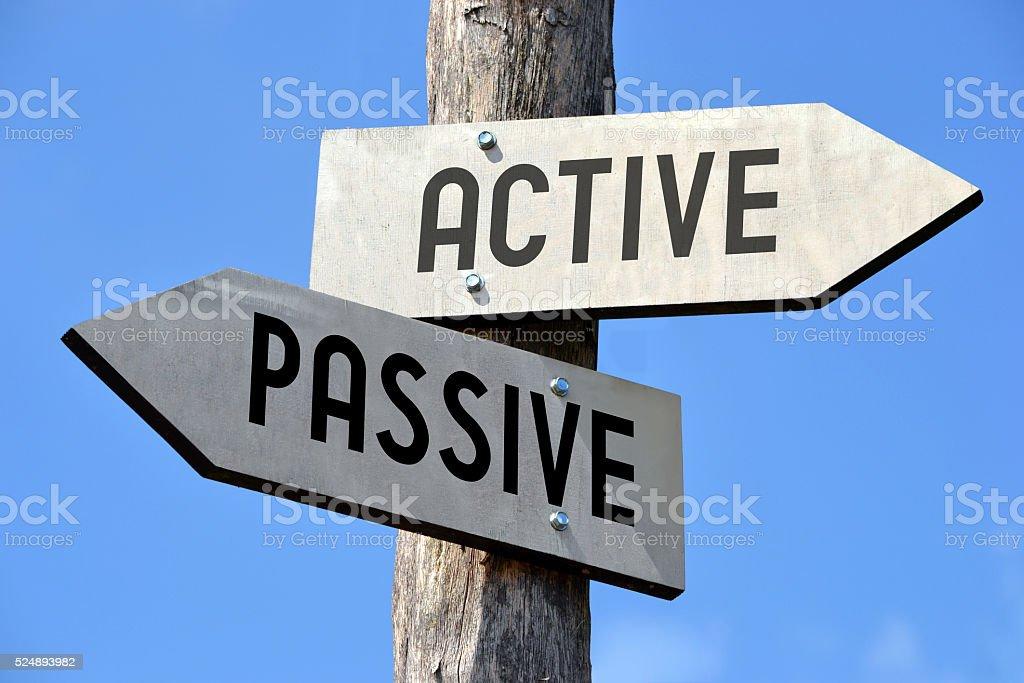Poste indicador activo y pasivo - foto de stock