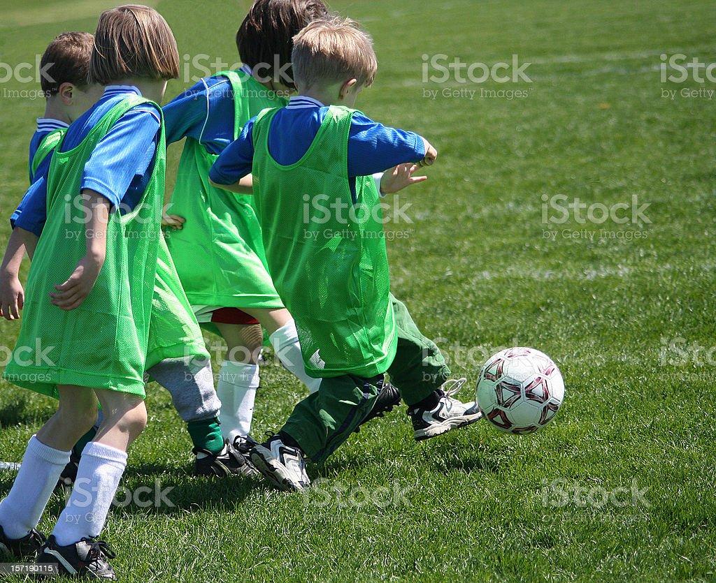 Active Boy is Soccer Team Kicker royalty-free stock photo