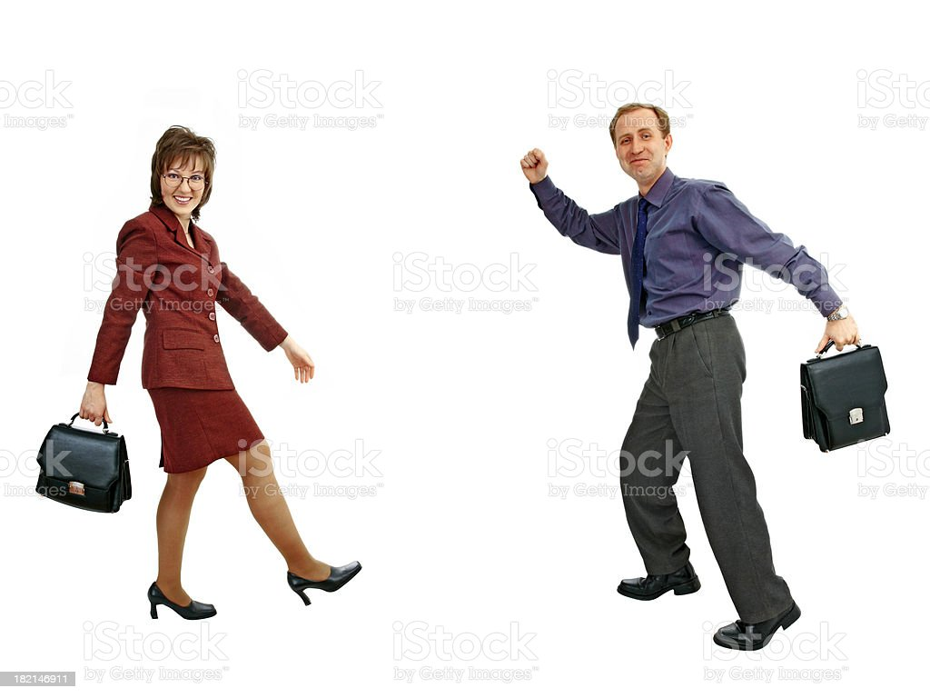 Active businesspeople royalty-free stock photo