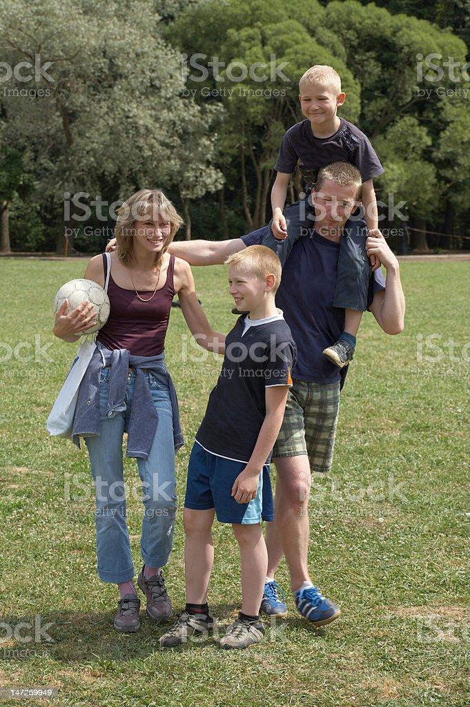 Active family royalty-free stock photo