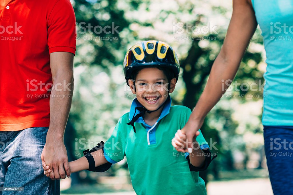 Active family time stock photo