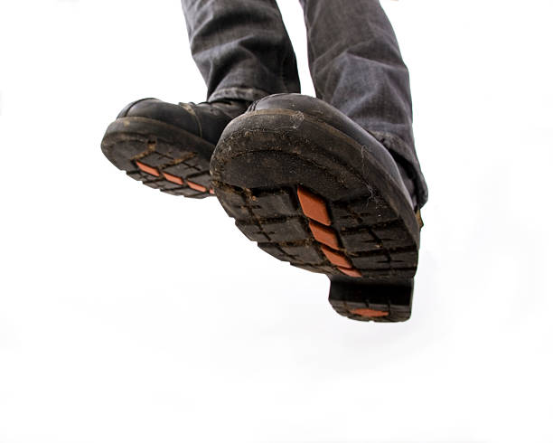 Active feet - Biker boots stock photo