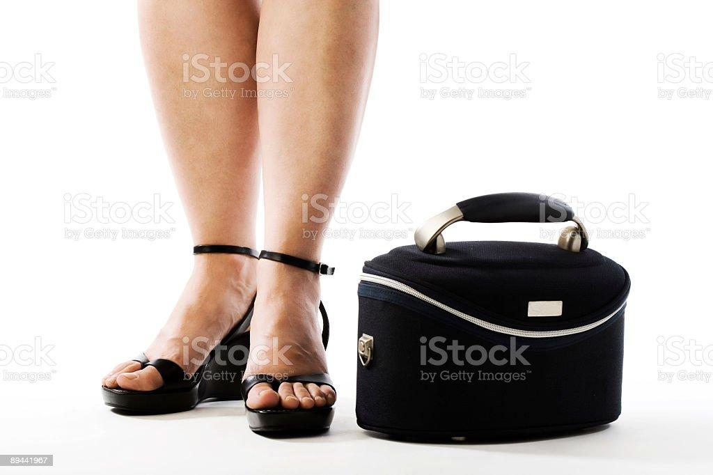 Active feet - High Heels royalty-free stock photo