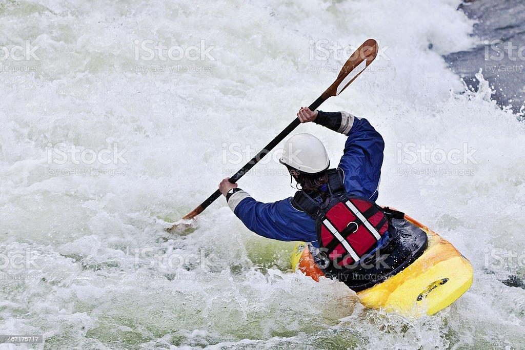 active female kayaker stock photo