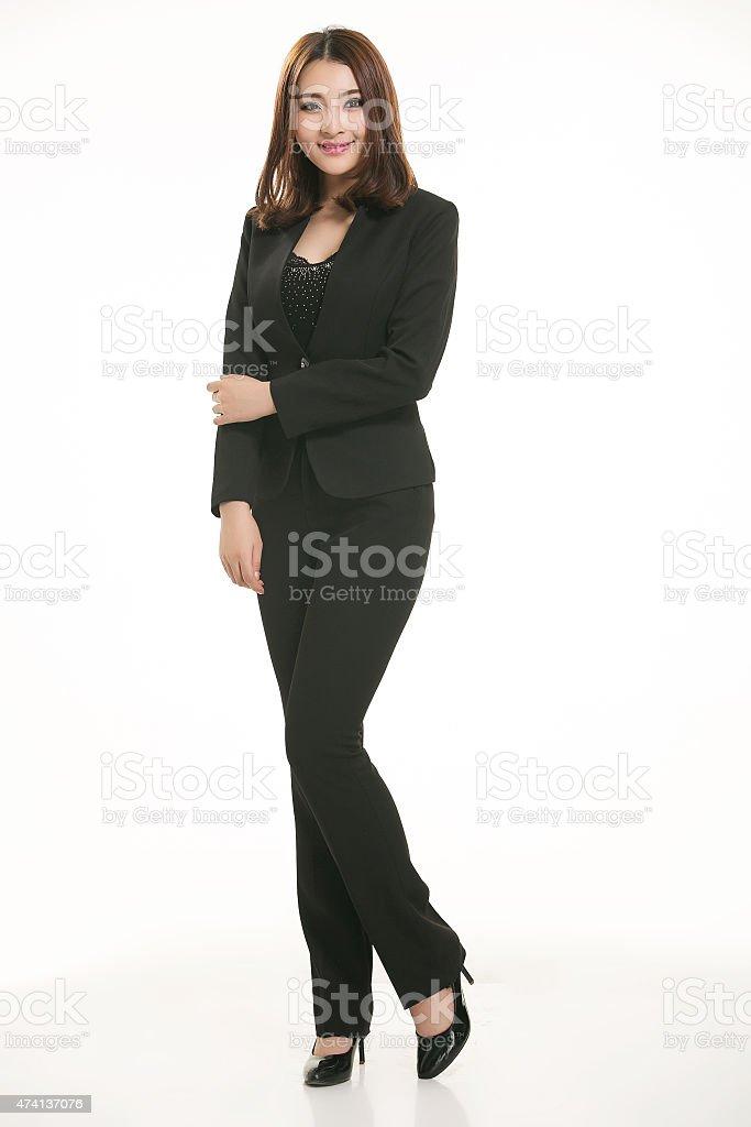 Chica activo uso profesional vestimenta - foto de stock