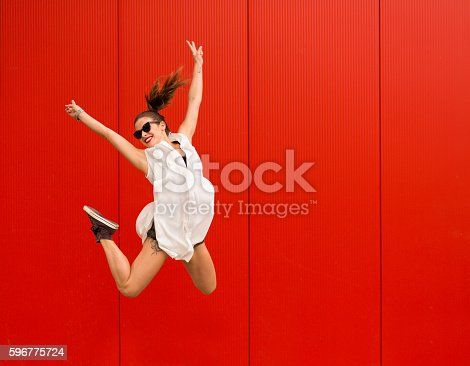 istock Active happy woman 596775724