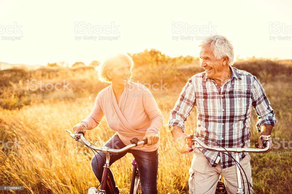 Active in their golden years stock photo