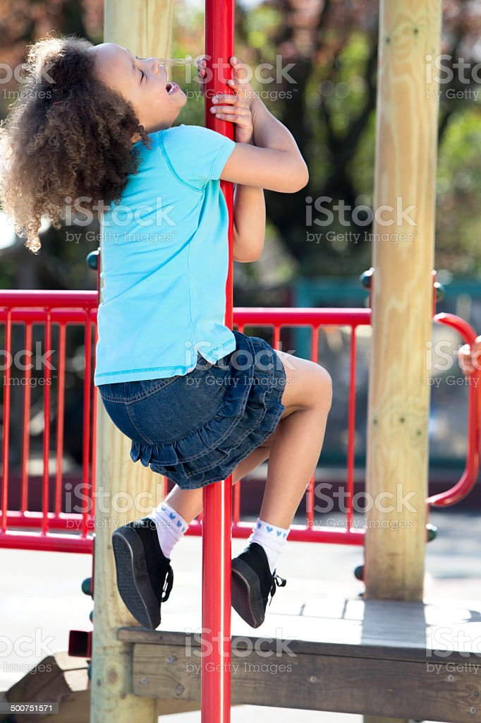 Active Kids In A Playground stock photo
