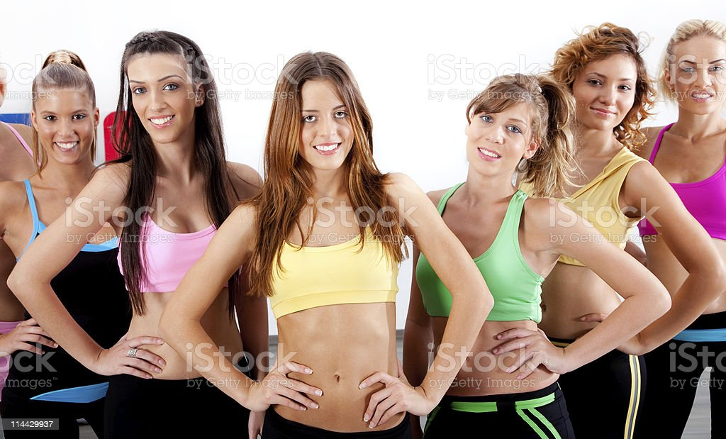 active ladies royalty-free stock photo