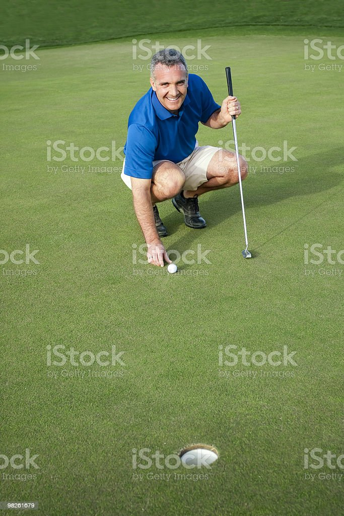 Active Male Golfer royalty-free stock photo
