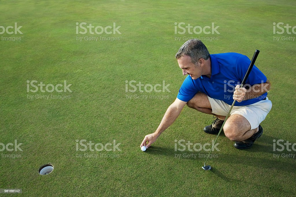 Active Male Golfer Putting royalty-free stock photo