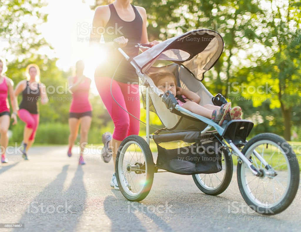 active mother jogging royalty-free stock photo