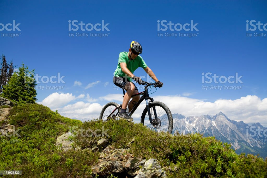 Active. Mountain Biking Panorama royalty-free stock photo
