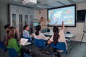 Active Presentation, Classroom Scenario, for University Graduates.STEM.