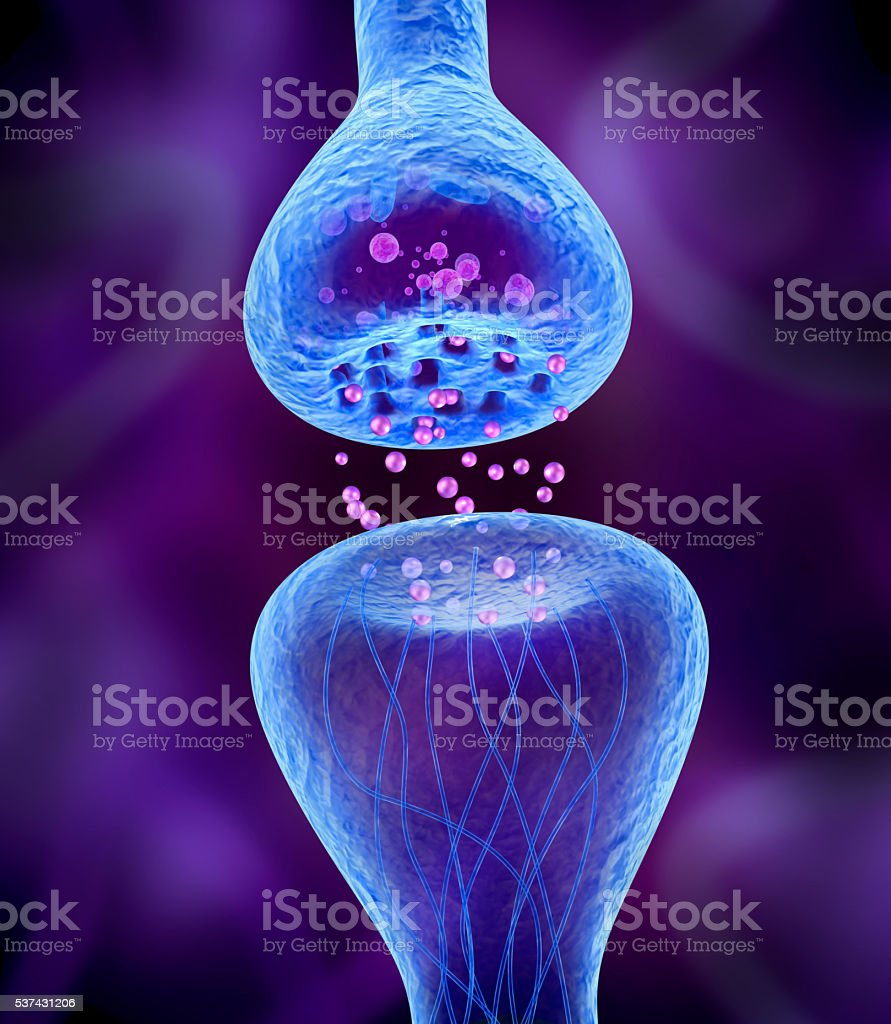 Active receptor 3d image stock photo