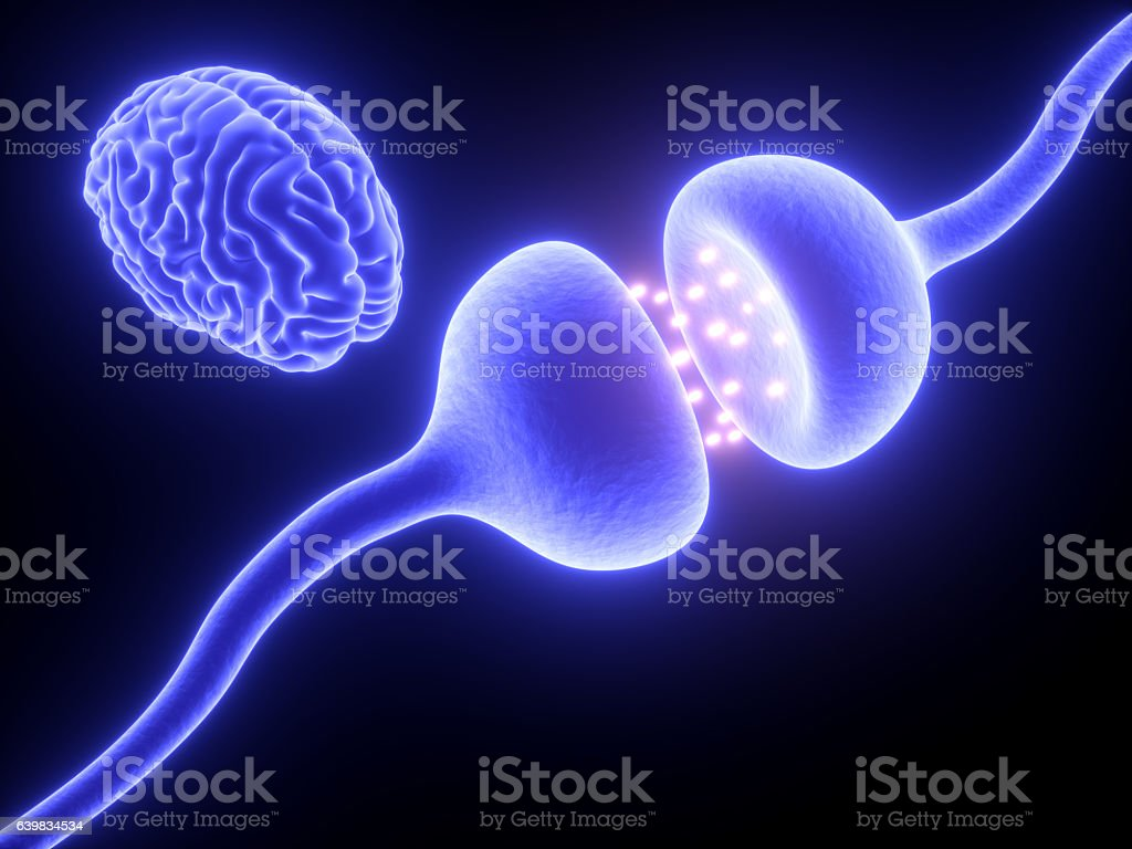 Active Receptor with brain stock photo
