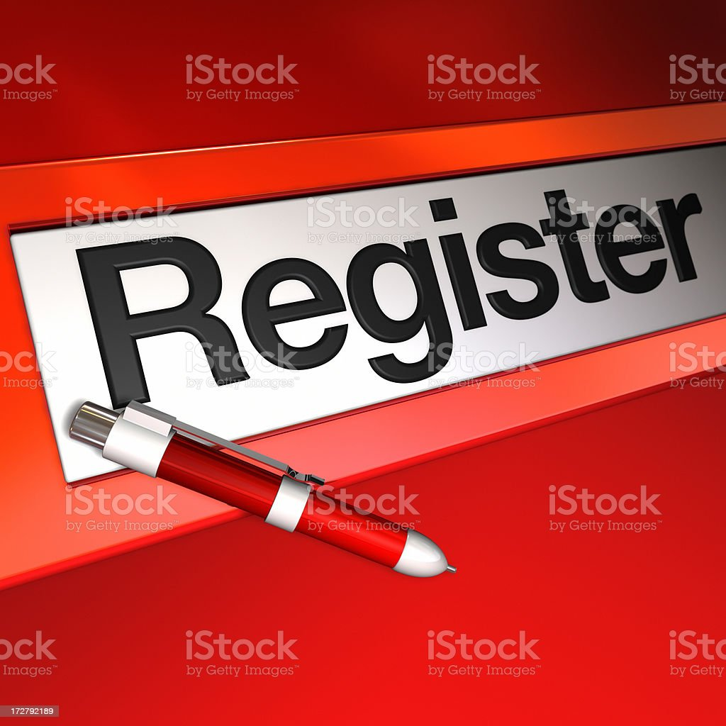 active registration royalty-free stock photo