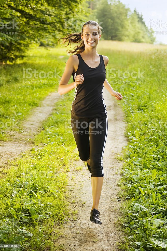 Active Running Girl royalty-free stock photo