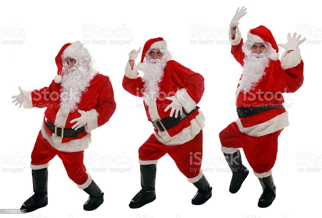 Active Santa royalty-free stock photo