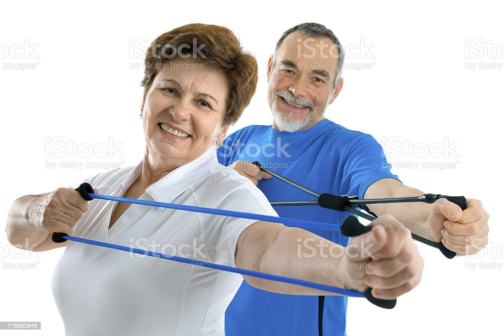 Active senior couple stock photo