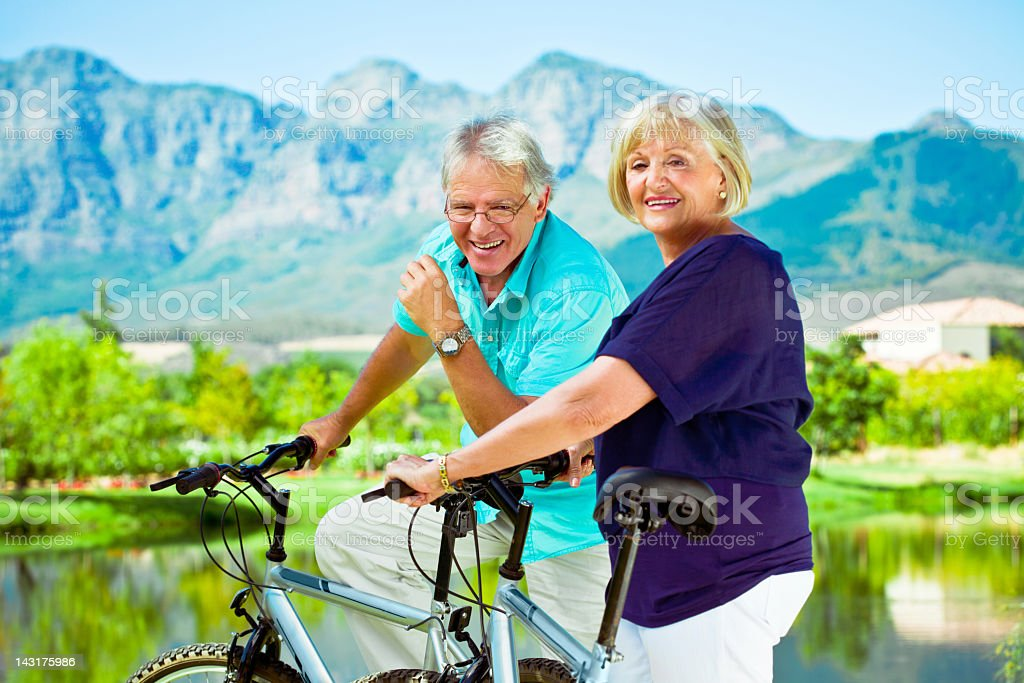 Active senior couple  60-64 Years Stock Photo