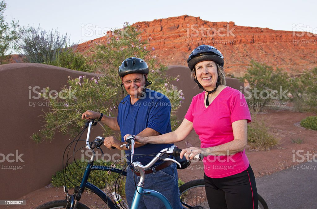 Active Senior Couple Staying Healthy and fit royalty-free stock photo