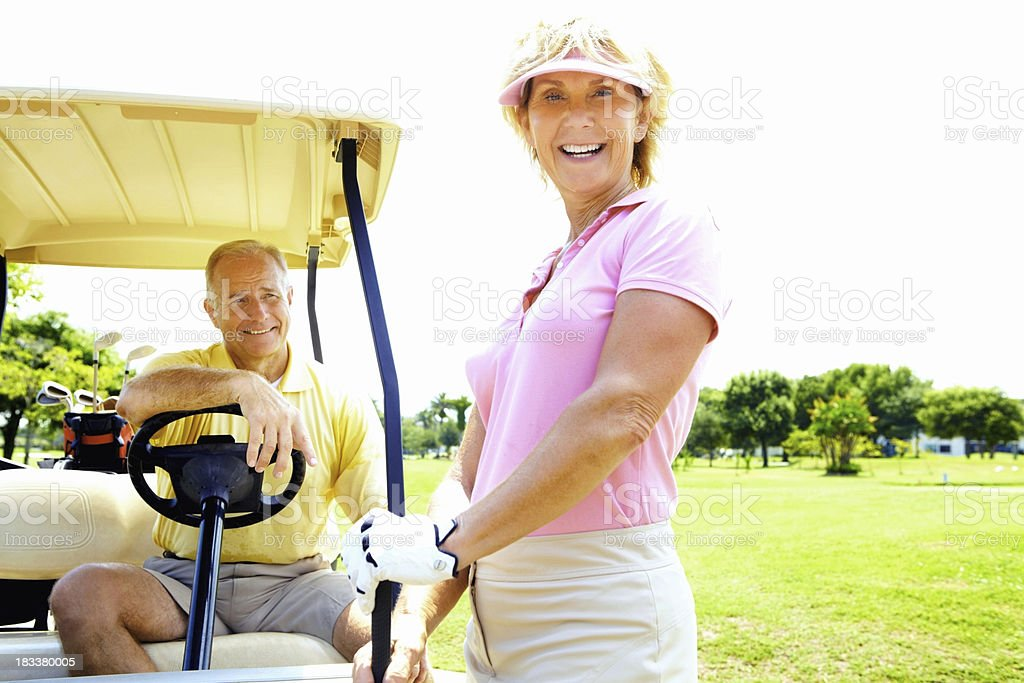 Active senior golfers royalty-free stock photo