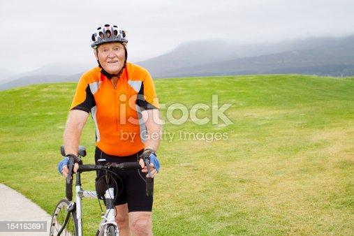 istock active senior male bicyclist 154163691