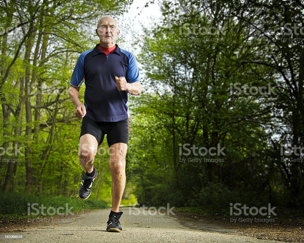 Active Senior Male Jogging royalty-free stock photo