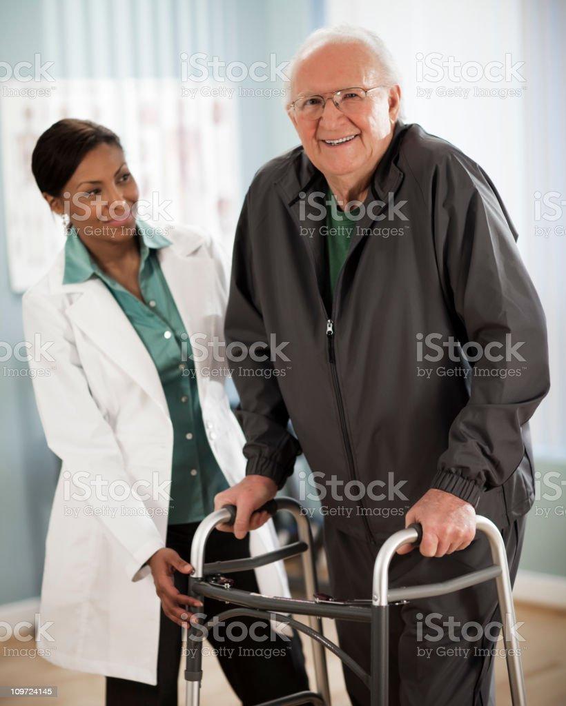 Active Senior Man at Physical Therapy royalty-free stock photo