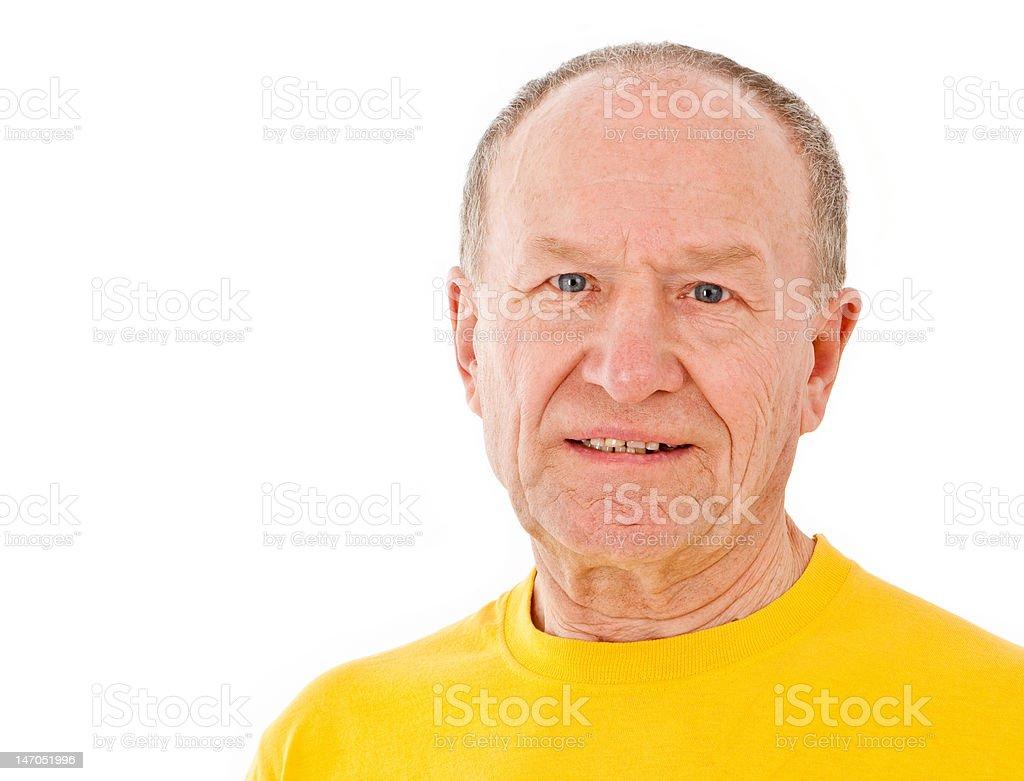 Active senior man. Portrait royalty-free stock photo