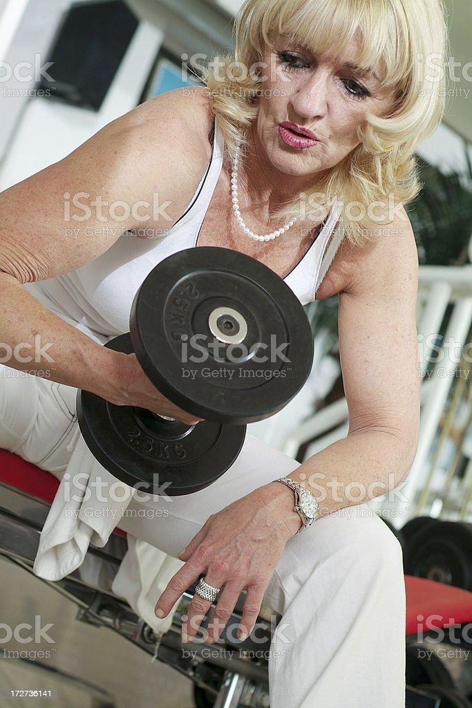 Active Senior Series royalty-free stock photo