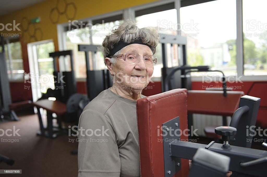 Active senior woman exercising royalty-free stock photo