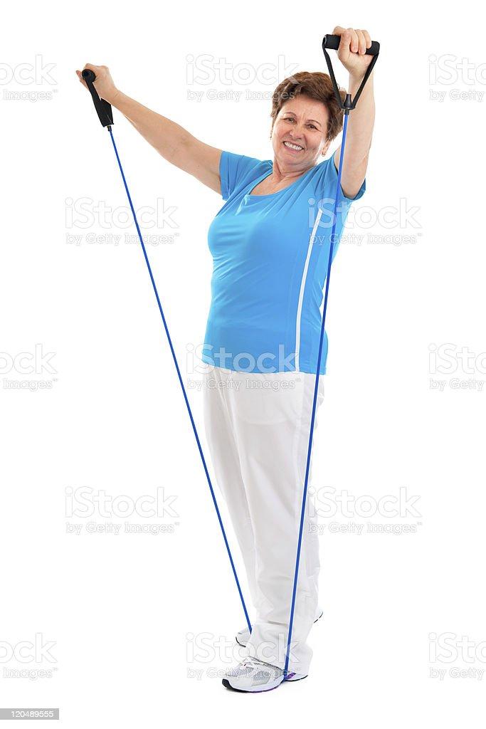 Active senior woman stock photo