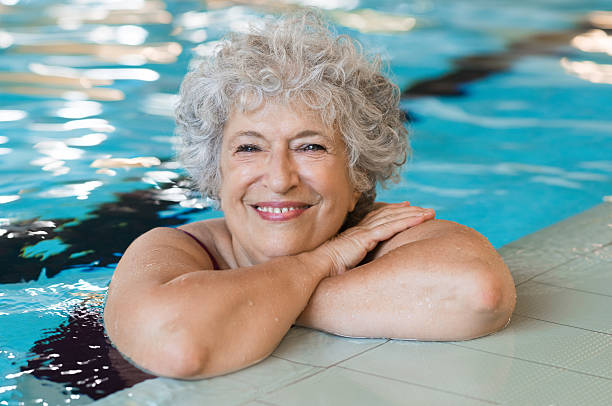 Aktive senior Frau – Foto