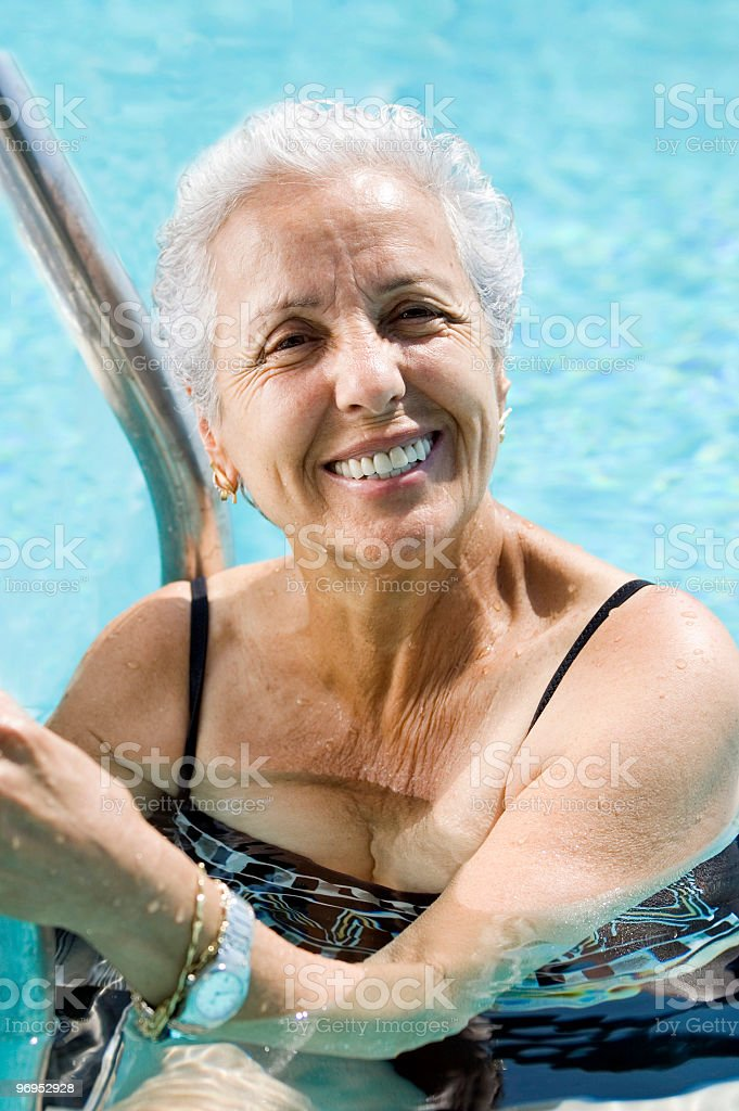 Active senior woman royalty-free stock photo