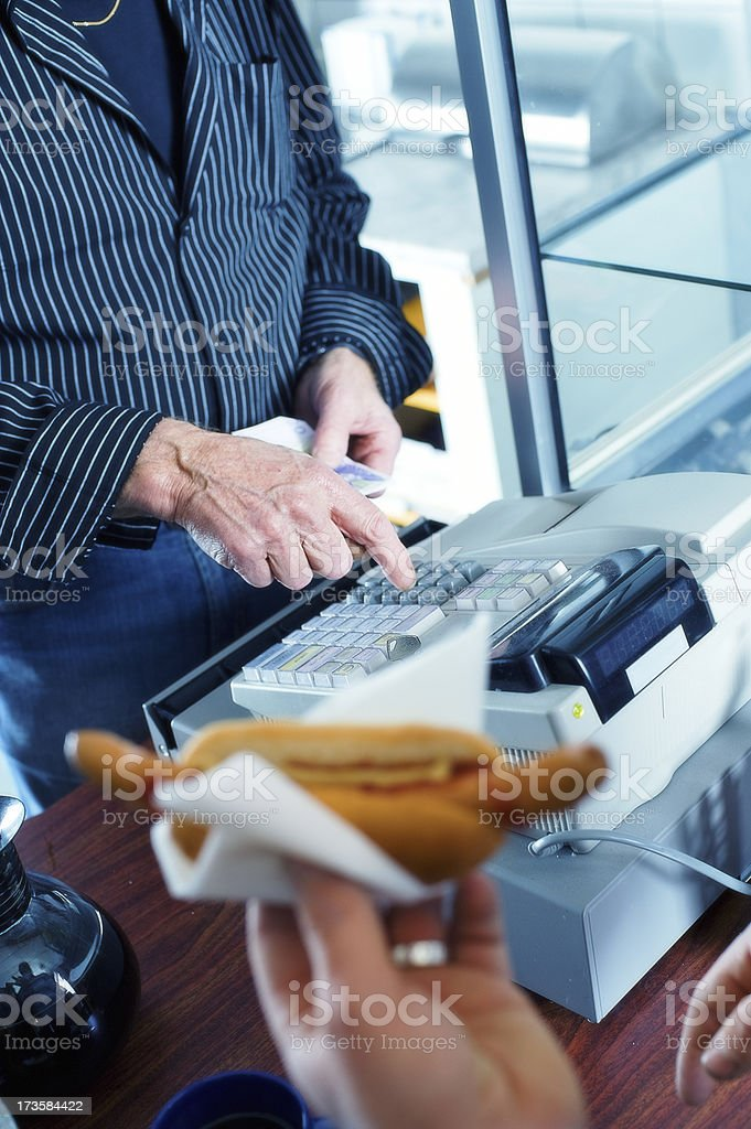 Active senior working royalty-free stock photo