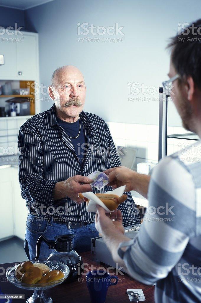 Active senior working royalty-free stock photo