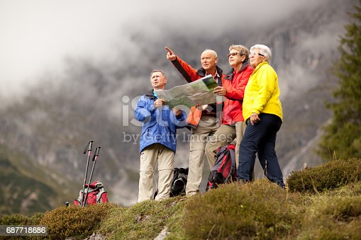 istock active seniors during hiking trip 687718686