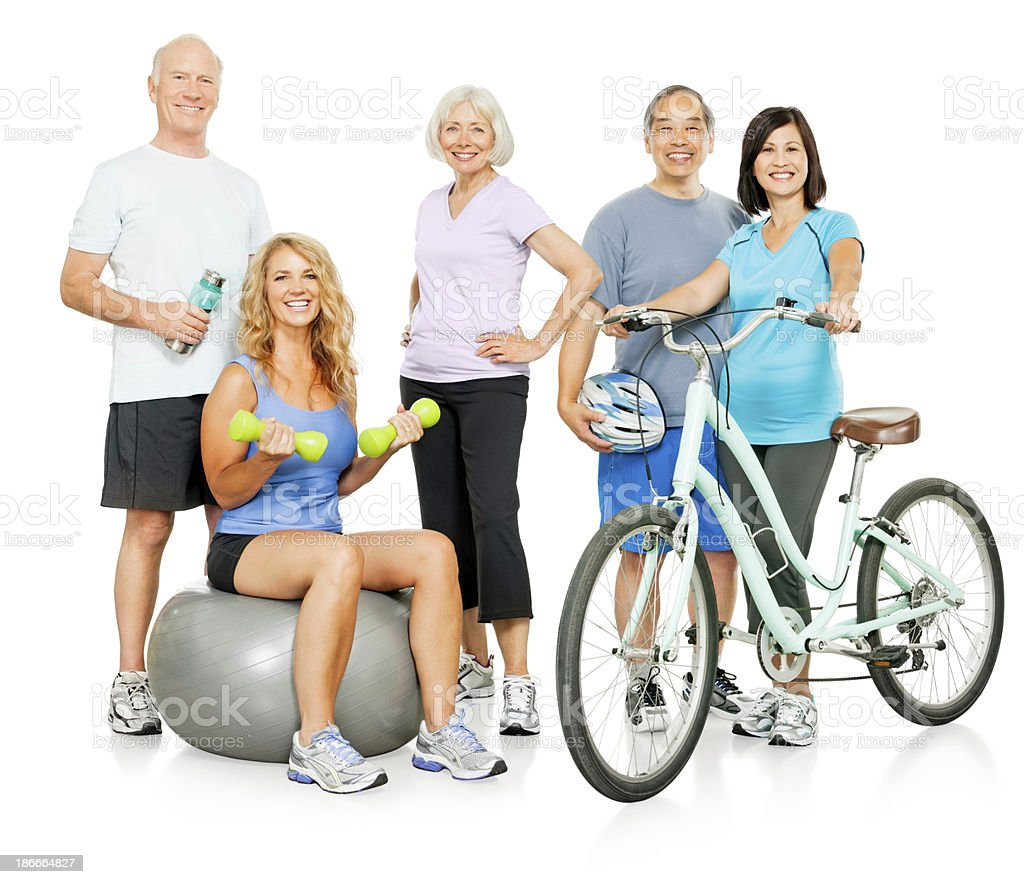 Active Seniors Isolated (with Clipping Path) royalty-free stock photo