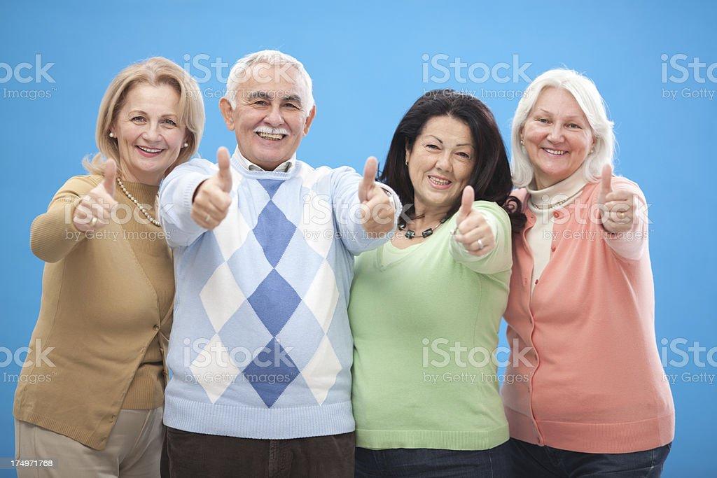Active seniors. royalty-free stock photo