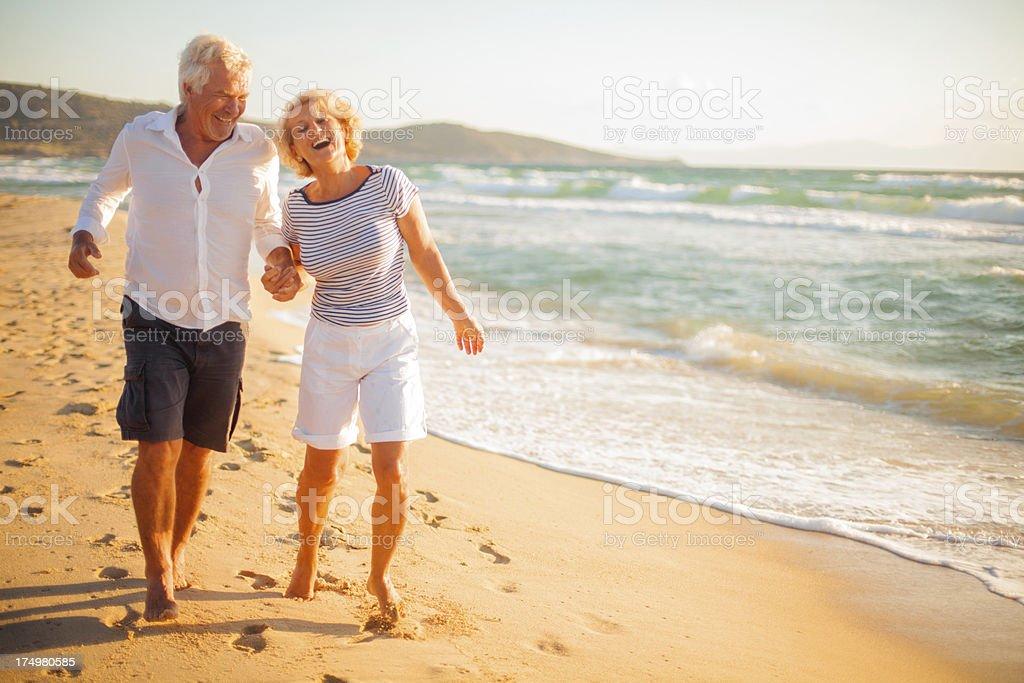 Active seniors royalty-free stock photo