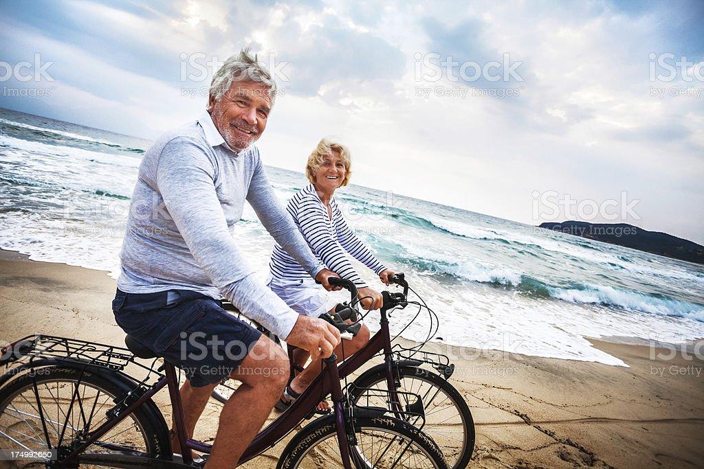 Active seniors stock photo