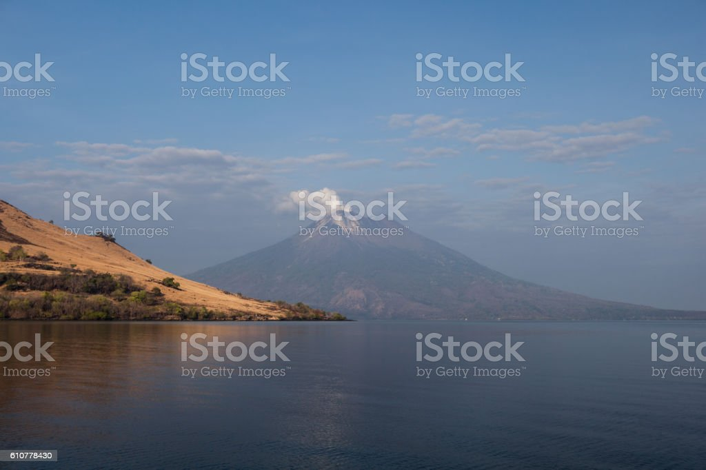 Active Volcano in the Ring of Fire stock photo