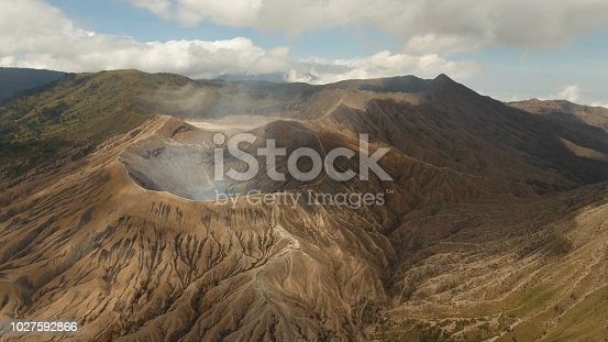istock Active volcano with a crater. Gunung Bromo, Jawa, Indonesia 1027592866