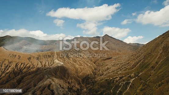 istock Active volcano with a crater. Gunung Bromo, Jawa, Indonesia 1027592946