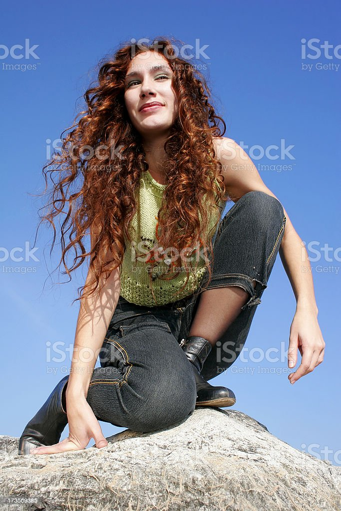 Active woman royalty-free stock photo